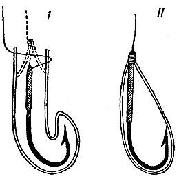 Рис.253. Способы насаживания белого червя